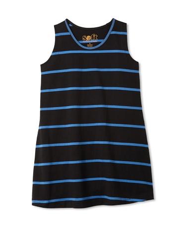 Soft Clothing Girl's Orleans Shift Dress (Navy)