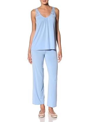 OnGossamer Women's Whisper Pajama Set (Cornflower)