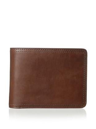 Bosca Men's Faustino Continental I.D. Wallet (Brown)