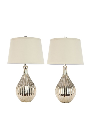 Safavieh Lighting Collection Lina Gold Table Lamps, Set Of 2
