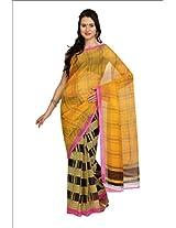 Parchayee Yellow Polycotton Sari