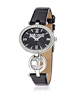 Just Cavalli Quarzuhr Woman Just Icon schwarz/silberfarben 34x26 mm
