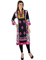 Zam Zam Women Linen Black Pakistani Kurti