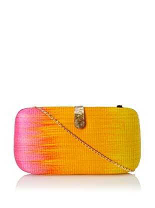 Rebecca Minkoff Women's Oversized Minaudiere, Yellow Orange/Pink