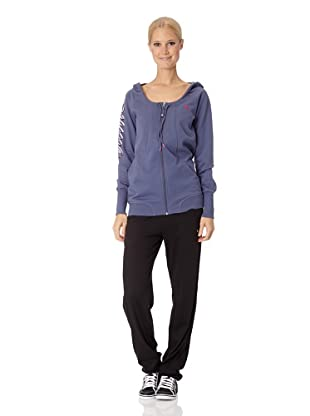 Puma Damen Sweatshirt Pumascript Fullzip Hoodie (nightshadow blue)