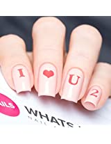 Love Letters For Nails, Valentines Day Nail Stickers, Nail Art, Nail Vinyls (20 Stickers & Stencils)