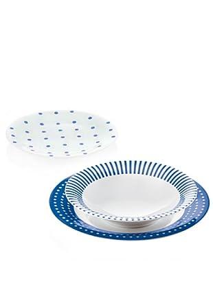 Guzzini Set 6 Coperti Gocce Blu