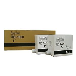 【クリックで詳細表示】リコー 印刷機汎用インク 1000cc×5本 RH-1000黒 N200他対応