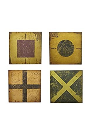 Three Hands Set of 4 Wood Wall Art