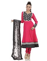 Sorbet pink embroidery readymade suit dupatta