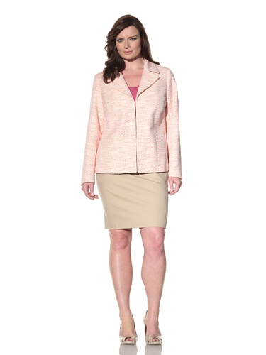 Z from Zenobia Women's Plus Stitched Summer Jacket (Watermelon)