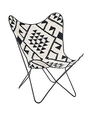 MODERN CONCEPT Stuhl schwarz/weiß