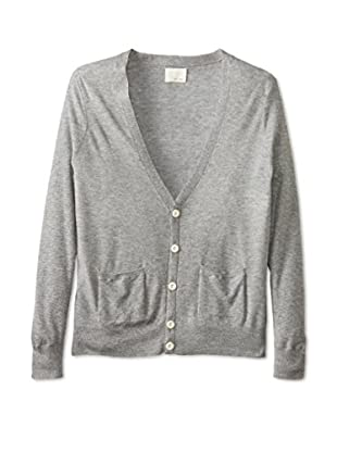 Band of Outsiders Men's Silk Cashmere Cardigan (Heather Grey)