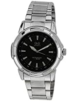 Q&Q Analog Black Dial Men's Watch - Q742N202Y