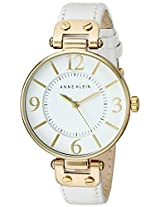 Anne Klein Women's White Leather Analogue Watch - 109168WTWT
