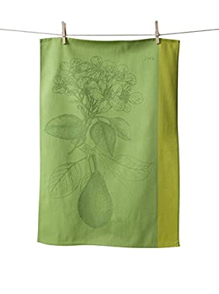 KAF Home Pear Jacquard Kitchen Towel, Green/Yellow