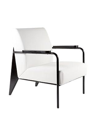 Control Brand Linz Arm Chair, White
