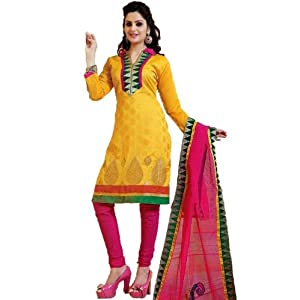 Yellow Lace Work Salwar Suit