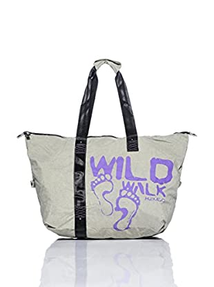 H.Due.O Borsa Wild Walk Grigio/Viola