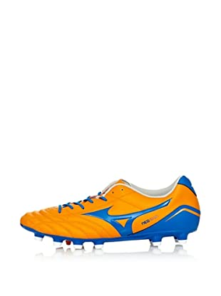 Mizuno Zapatillas Football NEO Shin MD (Naranja / Azul / Blanco)