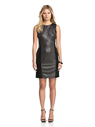 Julia Jordan Women's Perforated Faux Leather Dress (Black)