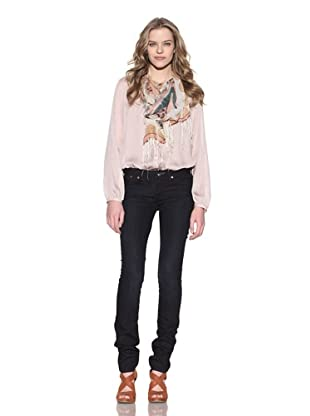 4 Stroke Women's The Rose Skinny Jeans (Black Balloon/Dark Blue)