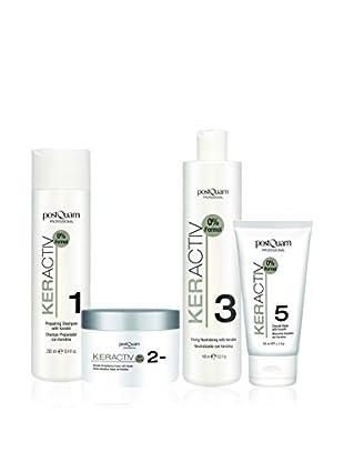 PostQuam Haarpflege 4er Set Champú 250 ml, Smooth Cream, Neutralizing 400 ml, Smooth Mask 150 ml