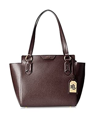 LAUREN Ralph Lauren Women's Tate Modern Shopper, Port/Cocoa