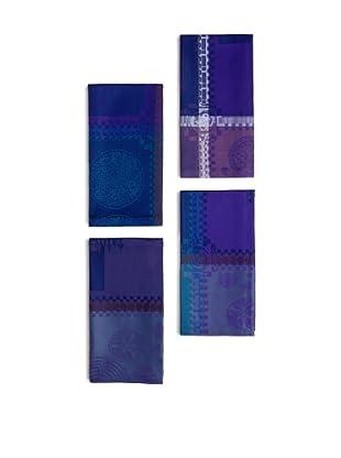 Garnier-Thiebaut Set of 4 Mille Batik Napkins (Indigo)