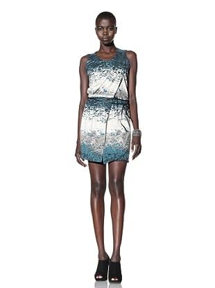 Improvd Women's Sandra Tank Print Dress (Green Ombre)