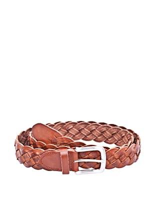 Cortefiel Cinturón Trenza Cuero (Marrón)