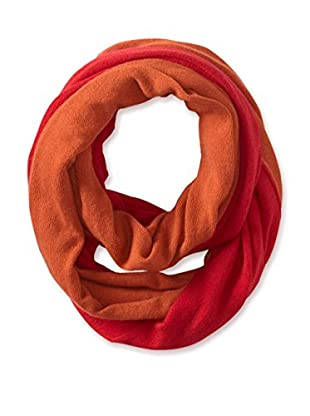 Cullen Women's Colorblock Cashmere Infinity Scarf, Ginger/Flame