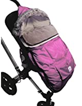 "7A.M. ENFANT ""Le Sac Igloo"" Footmuff, Converts into a Single Panel Stroller and Car Seat Cover - Pink, Large (Discontinued by Manufacturer)"