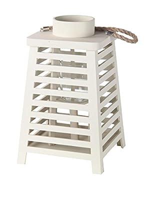 Privilege International Cream Wooden Lantern