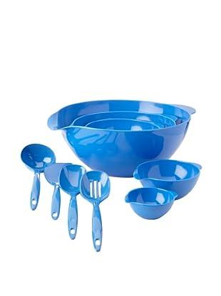 Reston Lloyd 5-Piece Bowl and 4-Piece Utensil Set (Azure)