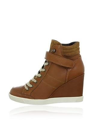 Buffalo London ES 30083 GARDA SUEDE 132463 - Zapatillas fashion de cuero  mujer (Marrón)