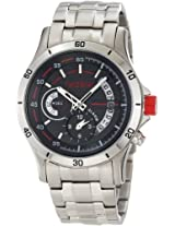 Red Line Watches, Men's Tech Alarm Black Dial Stainless Steel, Model 50020-11