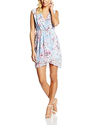 William de Faye Vestido Seda Robe Faux Cache Cœur En Liberty