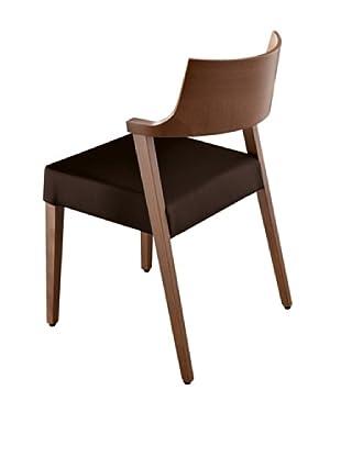 Domitalia Lirica Chair, Black/Walnut
