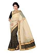 De Marca Black Silk G-328 Saree