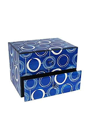 American Atelier Circles 2-Drawer Jewelry Box, Blue
