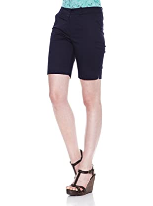 Carrera Jeans Bermuda Gabardina Stretch (Azul)