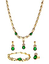 Green Crystals traditional Jewellery Set