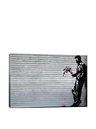 Banksy Waiting In Vain At The Door Of The Club Gallery Wrapped Canvas Print