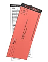 10 Pack Fake Parking Tickets With Multiple Selections In The Back To Fill In. Free Shipping.
