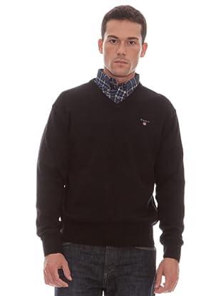 Gant Jersey Liso Pico (negro)