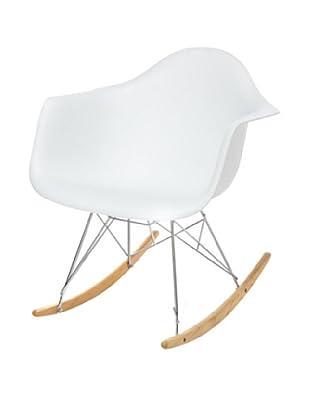 Fine Mod Rocker Side Chair, White