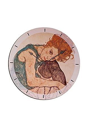 Artopweb Reloj De Pared Schiele Sitzende Fra