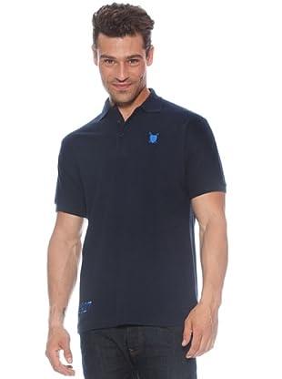 Polo Club Polo manga corta Custom Fit Escudo (Azul Marino)