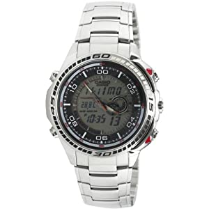 Casio Edifice Stopwatch Analog-Digital Silver Dial Men's Watch - EFA-121D-7AVDR (ED265)